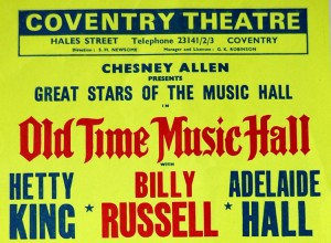Billy old time music hall r