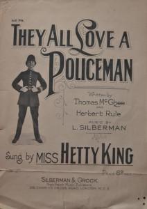 Hetty Policeman songsheet R