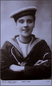 Hetty as a sailor.